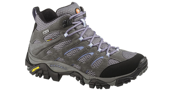 Merrell Moab Mid Gore-Tex Shoes Women Grey/Periwinkle